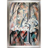 Alice Bailly 'In the Chapel' Hand Painted Framed Oil Reproduction on Canvas