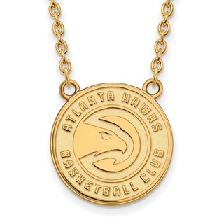 Gold Plated Atlanta Hawks Large Pendant with Necklace