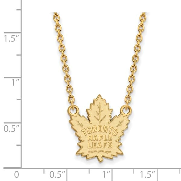 Shop Versil Sterling Silver With Gold Plating Nhl Logoart Toronto Maple Leafs Large Pendant With Necklace On Sale Free Shipping Today Overstock 15419957