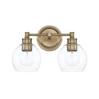Capital Lighting Mid-Century Collection 2-light Aged Brass Bath/Vanity Light