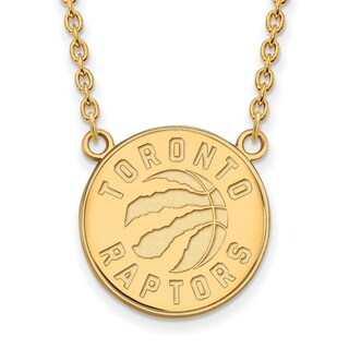 Gold Plated Toronto Raptors Large Pendant with Necklace