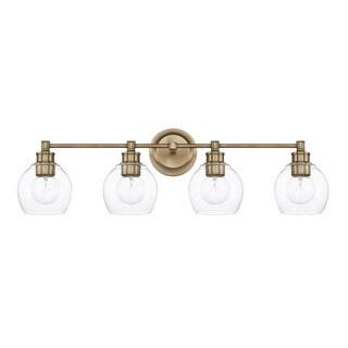Capital Lighting Mid-Century Collection 4-light Aged Brass Bath/Vanity Light