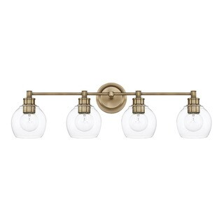 Capital Lighting Mid-Century Collection 4-light Aged Brass Bath/Vanity Light