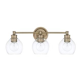 Capital Lighting Mid-Century Collection 3-light Aged Brass Bath/Vanity Light