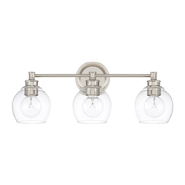 Shop capital lighting mid century collection polished nickel glass capital lighting mid century collection polished nickel glasssteel 3 light bath aloadofball Gallery