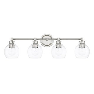 Capital Lighting Mid-Century Collection 4-light Polished Nickel Bath/Vanity Light
