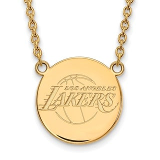 Gold Plated Los Angeles Lakers Large Disc Pendant