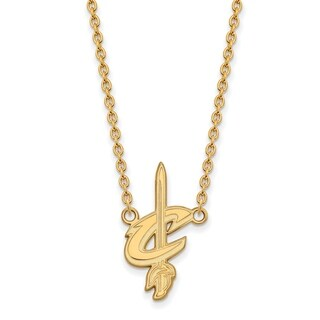 Gold Plated Cleveland Cavaliers Large Pendant With Necklace