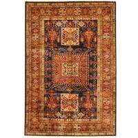 Herat Oriental Afghan Hand-knotted Super Kazak Wool Rug (5'9 x 8'5)