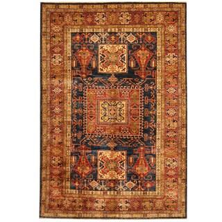 Handmade Herat Oriental Afghan Super Kazak Wool Rug - 5'9 x 8'5 (Afghanistan)