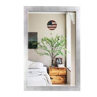 US Made Taciturn Silver Gunmetal Mirror - matte silver