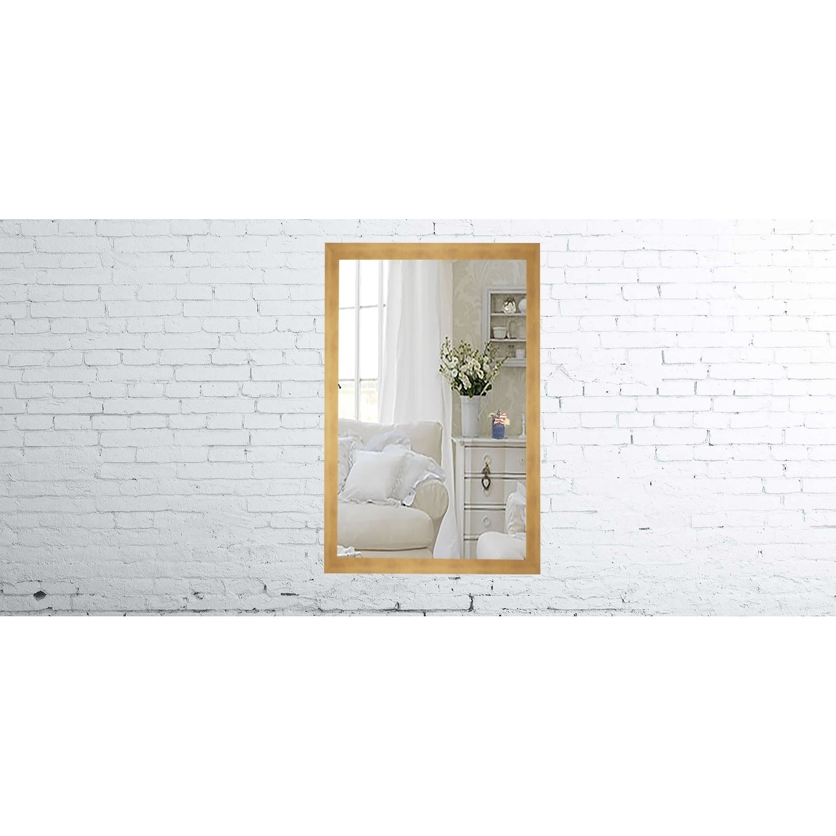 """Rayne Mirrors US Made Hushed Golden Sunset Mirror (25.5"""" ..."""