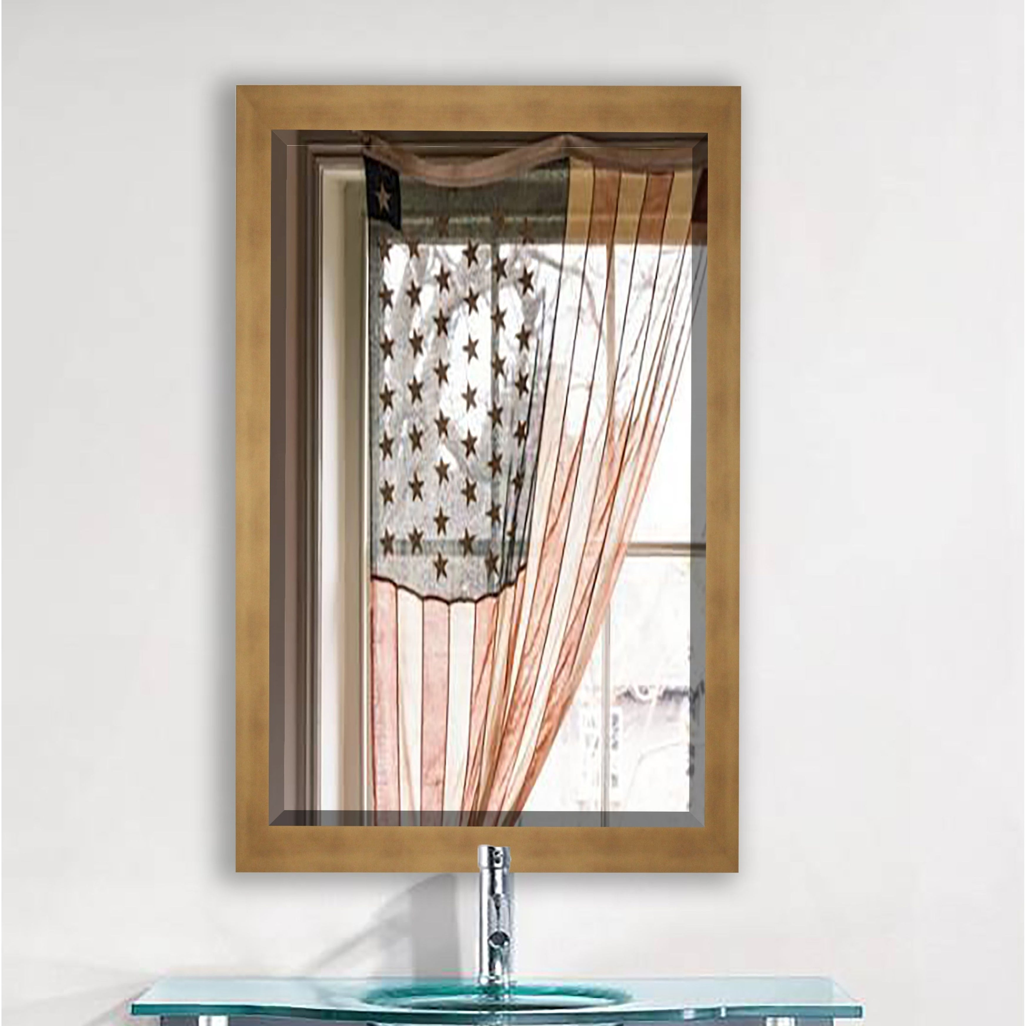 """Rayne Mirrors US Made Hushed Golden Sunset Mirror (20.5"""" ..."""
