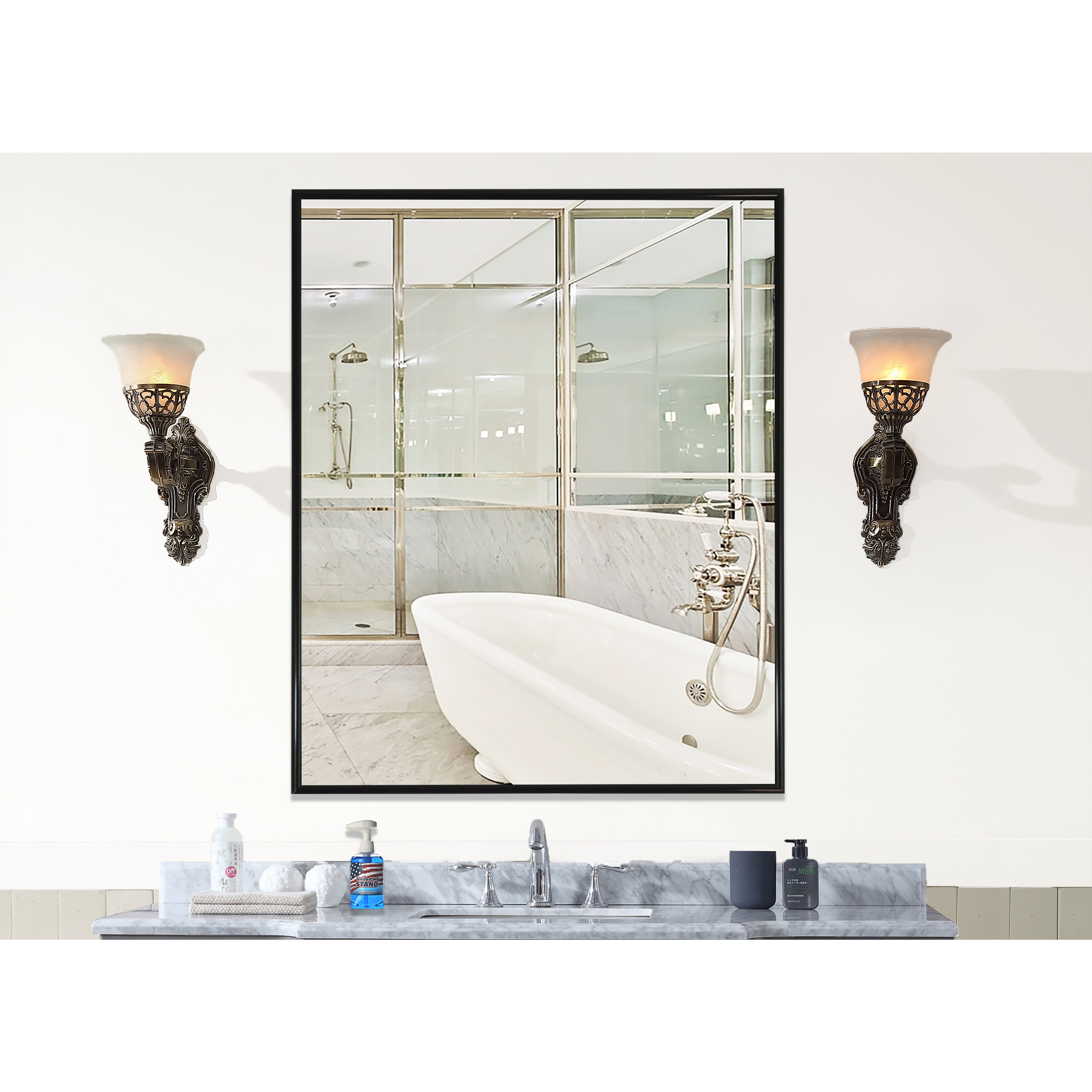 Shop Carbon Loft Clement Black Wall Mirror Free Shipping