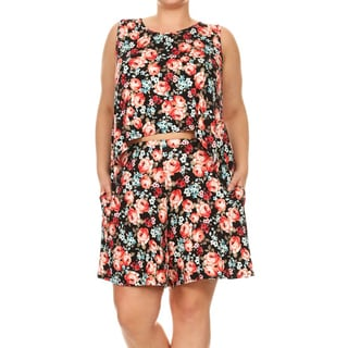 Women's Plus Size Floral Two-Piece Set