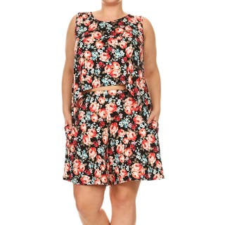 Women's Plus Size Floral Two-Piece Set|https://ak1.ostkcdn.com/images/products/15420219/P21876020.jpg?impolicy=medium