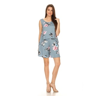 Women's Sleeveless Floral Two Piece Set