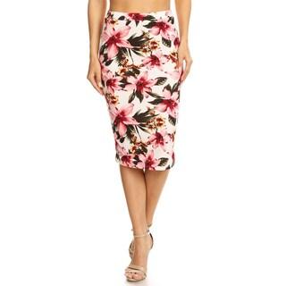 Women's Tropical Floral Pencil Skirt