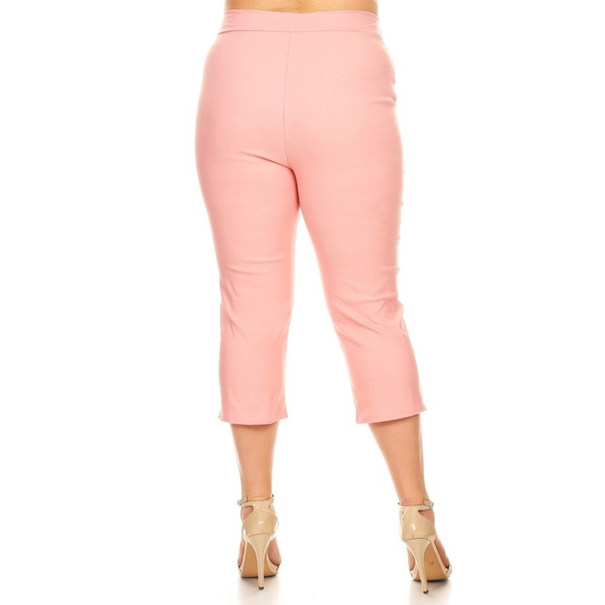 to buy exceptional range of styles and colors how to purchase Women's Plus Size Solid Pink Pants