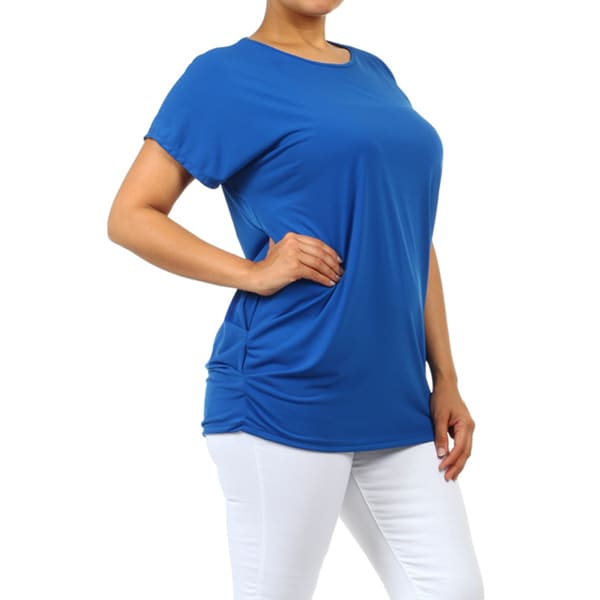 Women's Plus Size Solid Loose Fit Tunic. Opens flyout.