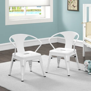Kids Tabouret Stacking Chair (Set of 2) (Option: White)