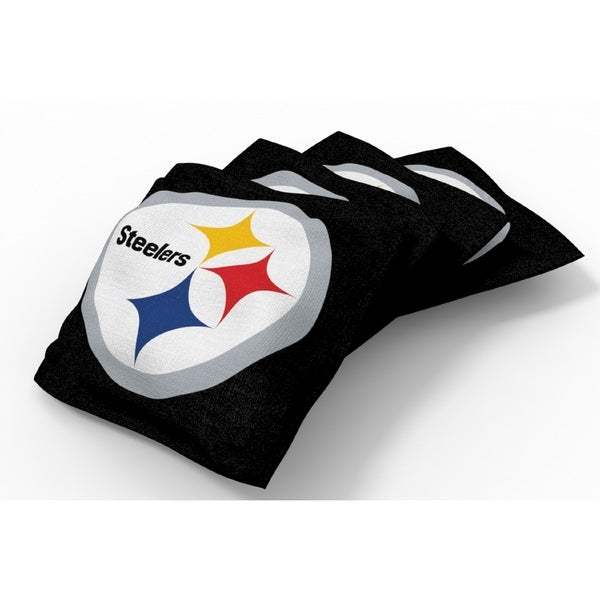 Wild Sports XL NFL Bean Bags for Tailgate Toss Set, Steelers