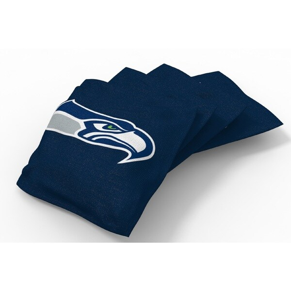Wild Sports XL NFL Bean Bags for Tailgate Toss Set, Seahawks