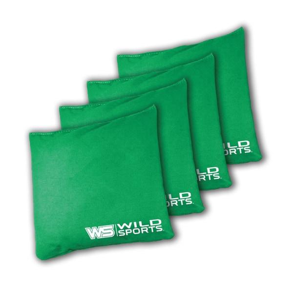 Wild Sports XL Regulation Bean Bags for Tailgate Toss Set, Green