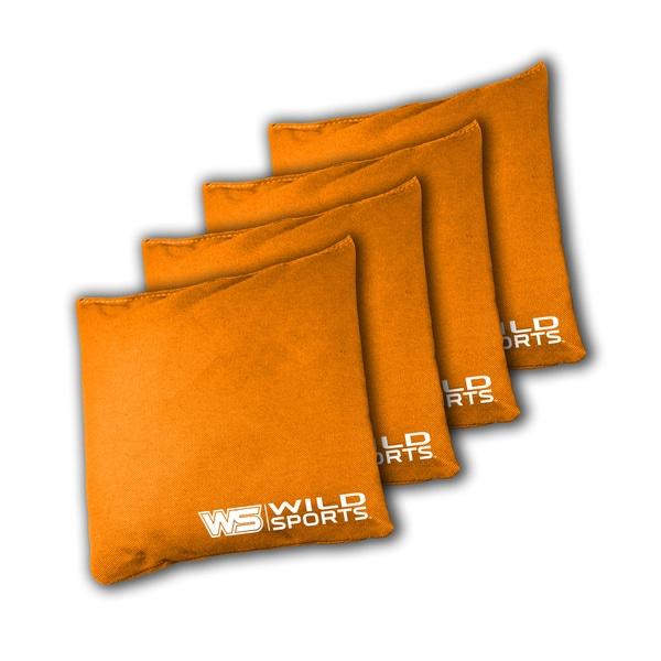 Wild Sports XL Regulation Bean Bags for Tailgate Toss Set, Orange