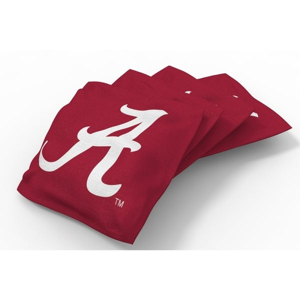 Wild Sports XL NCAA Bean Bags for Tailgate Toss Set, Crimson Tide