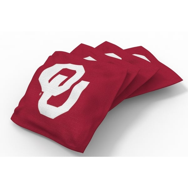 Wild Sports XL NCAA Bean Bags for Tailgate Toss Set, Sooners