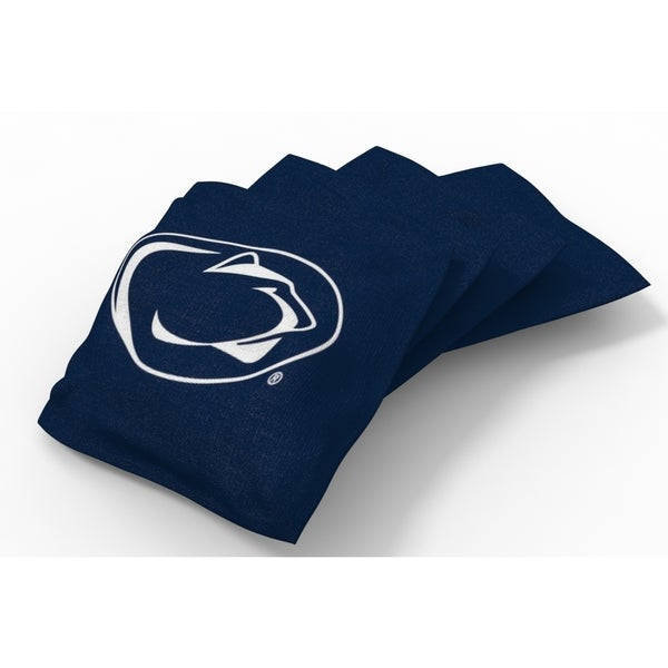 Wild Sports XL NCAA Bean Bags for Tailgate Toss Set, Nittany Lions