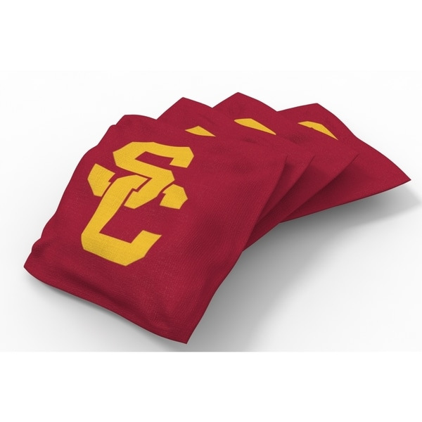 Wild Sports XL NCAA Bean Bags for Tailgate Toss Set, Trojans