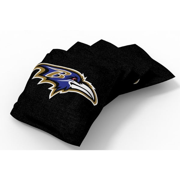 Wild Sports XL NFL Bean Bags for Tailgate Toss Set, Ravens