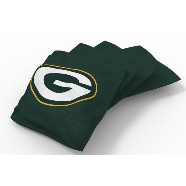 Wild Sports XL NFL Bean Bags for Tailgate Toss Set, Packers