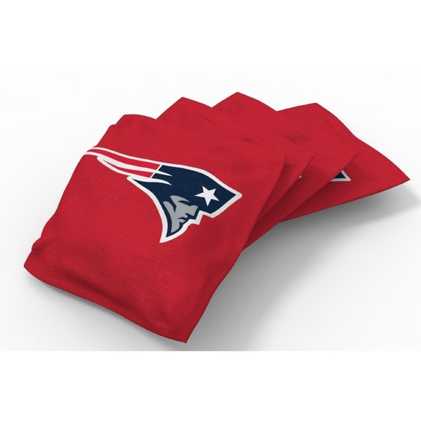 Wild Sports XL NFL Bean Bags for Tailgate Toss Set, Patriots