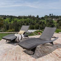 Thira Outdoor Aluminum Wicker Chaise Lounge by Christopher Knight Home (Set of 2)