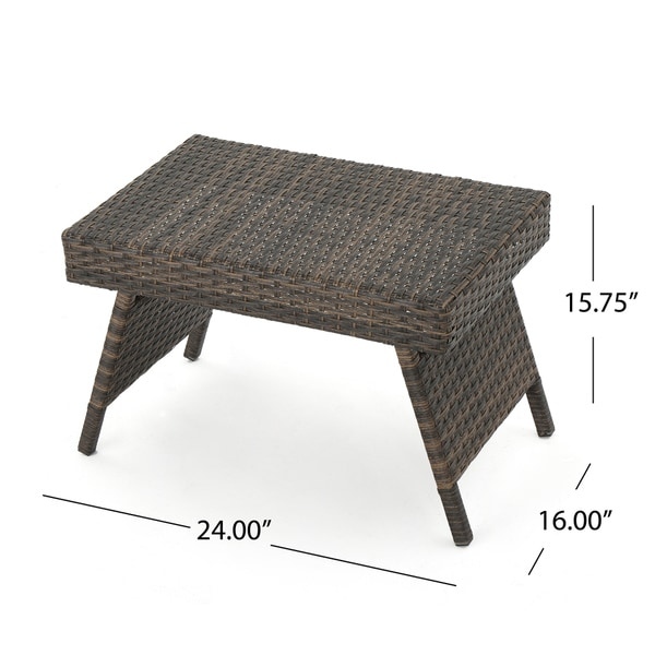 Thira Outdoor 3-piece Aluminum Wicker Chaise Lounge Set by ...
