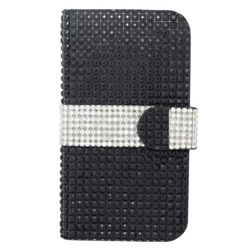 Insten Leather Rhinestone Bling Case Cover with Wallet Fl...