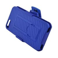 Insten Hard Snap-on Rubberized Matte Case Cover with Stand/ Holster For Apple iPhone 5/ 5S/ SE