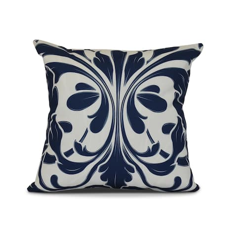 British Colonial, Geometric Print Outdoor Pillow