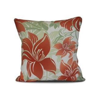 tree mallow floral print outdoor pillow