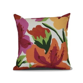 Tropical Floral, Floral Print Outdoor Pillow