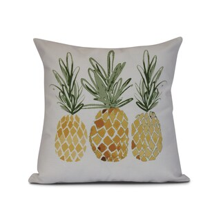 3 Pineapples, Geometric Print Outdoor Pillow (3 options available)