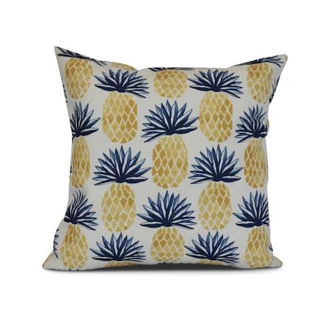 Pineapple Stripes, Geometric Print Outdoor Pillow