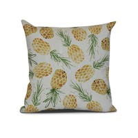 Tossed Pineapples, Geometric Print Outdoor Pillow