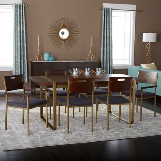 Tanner 70-Inch 7 Piece Gold Accent Dining Set