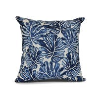 Palm Leaves, Floral Print Pillow