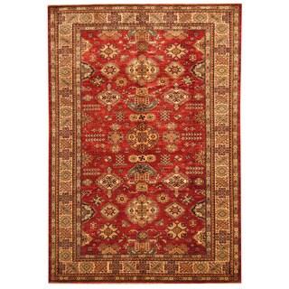 Herat Oriental Afghan Hand-knotted Super Kazak Wool Rug (5'10 x 8'7)