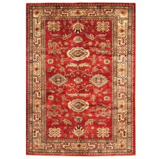 Herat Oriental Afghan Hand-knotted Super Kazak Wool Rug (5'7 x 7'9)